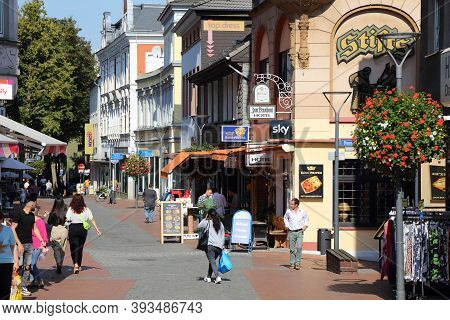 Dortmund, Germany - September 16, 2020: People Shop In Hoerde District Of Dortmund, Germany. Dortmun
