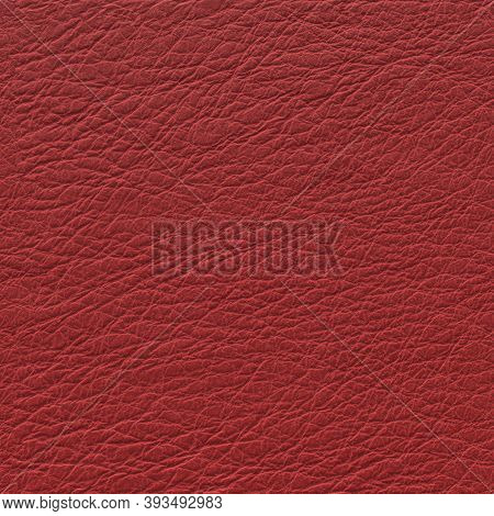 Lamb Leather Red Background. Leather Texture, Genuine Red Leather Pattern, 3d-rendering