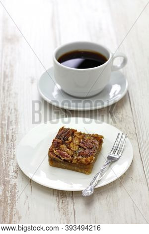 maple syrup butter tart squares with pecan & walnut, homemade canadian sweet