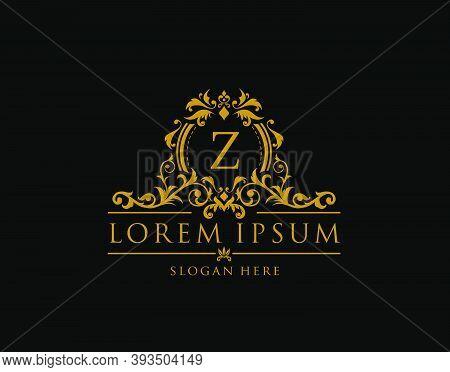 Royal Boutique Badge With Z Letter Logo.classy Elegant Badge Design For Boutique, Royalty, Letter St