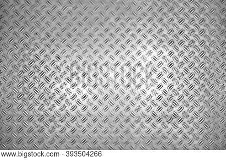 Metal Background Texture. Steel. Grey Hard Black Metal Pattern. Stainless Diamond Steel Plate