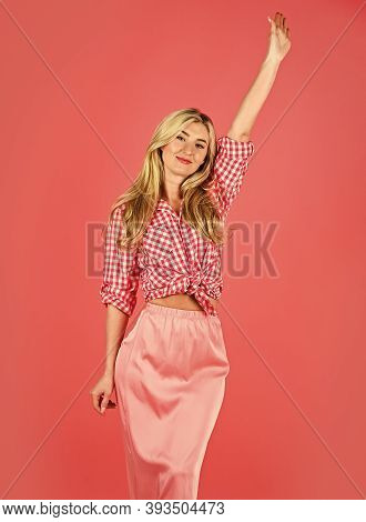 Pin Up Mood. Sexy Woman Wear Pin Up Clothes Set. Attractive Blonde. Fashion And Beauty. Summer Colle