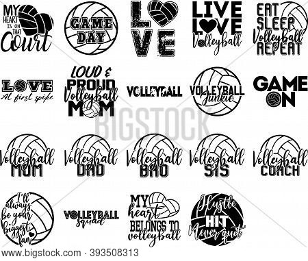 Collection Of Volleyball Phrases, Slogans Or Quotes