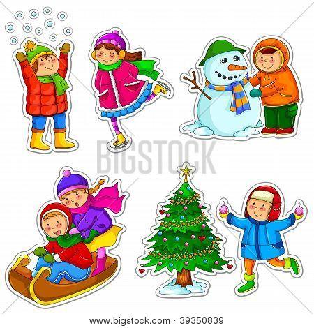 kids in winter