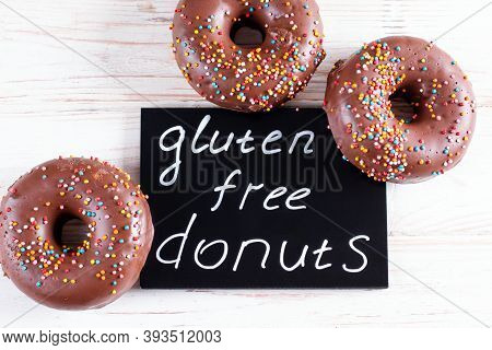 Gluten Free Healthy Chocolate Donuts. Gluten-free, Soy Free, Lactose-free Product