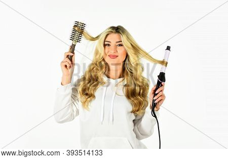 Using Different Wrapping Techniques. Choose Right Type Curling Iron For Your Needs. Create Hairstyle