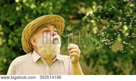 Alzheimer Dementia. Concept Of Cognitive Impairment. Joy During Early Spring. Old Age And Aging. Spr