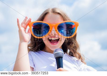 Fashion Accessory. Lifestyle And People Concept. Make Your Voice Louder. Music And Life. Teen Girl S