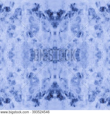 Seamless Indigo Tie Dye Print Shibori. Abstract Swimwear Design. Ink Spotted Wallpaper. Grunge Crump