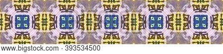 Aztec Rugs. Repeat Tie Dye Ornament. Ikat Asian Design. Abstract Kaleidoscope Motif. Green, Blue, Re