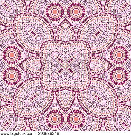 Modern Moroccan Zellige Tile Seamless Pattern. Ethnic Geometric Vector Patchwork. Quilt Print Design