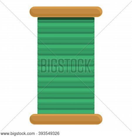 Coil Thread Icon. Cartoon Of Coil Thread Vector Icon For Web Design Isolated On White Background