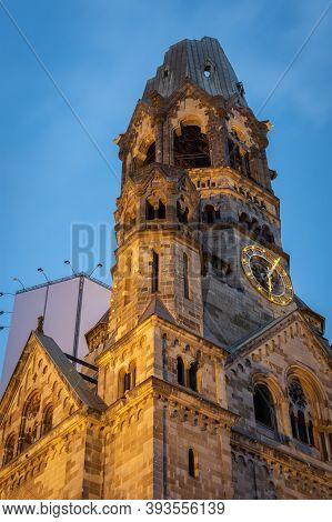 The Kaiser Wilhelm Memorial Church In Breitscheidplatz In Berlin, Germany. It Was Badly Damaged In S
