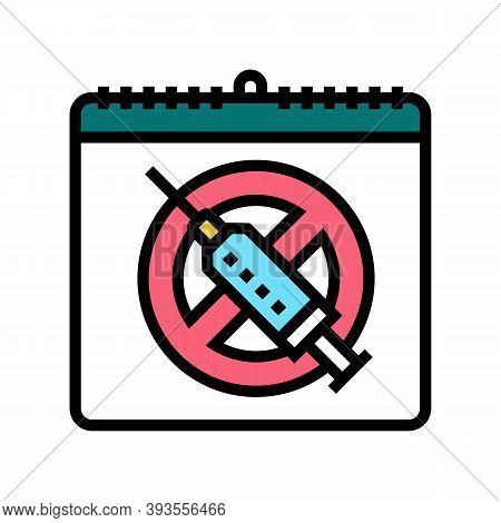 International Day Against Drug Abuse And Trafficking Color Icon Vector. International Day Against Dr