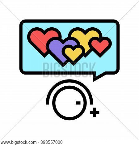 Winding Up Likes Color Icon Vector. Winding Up Likes Sign. Isolated Symbol Illustration