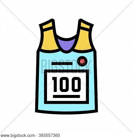 Runner T-shirt Color Icon Vector. Runner T-shirt Sign. Isolated Symbol Illustration