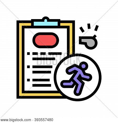 Runner Sportsman Card Color Icon Vector. Runner Sportsman Card Sign. Isolated Symbol Illustration