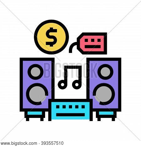 Music Device Rental Color Icon Vector. Music Device Rental Sign. Isolated Symbol Illustration