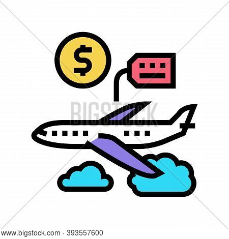 Airplane Rental Color Icon Vector. Airplane Rental Sign. Isolated Symbol Illustration