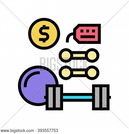 Sport Equipment Rental Color Icon Vector. Sport Equipment Rental Sign. Isolated Symbol Illustration