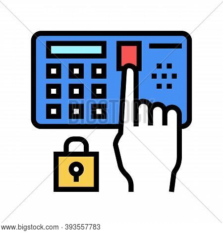 Password Entry Safe Device Color Icon Vector. Password Entry Safe Device Sign. Isolated Symbol Illus
