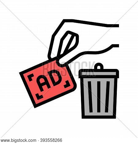 Toss Out Advertisement Color Icon Vector. Toss Out Advertisement Sign. Isolated Symbol Illustration