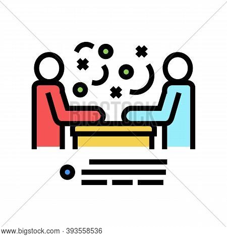 Seller And Client Communication Color Icon Vector. Seller And Client Communication Sign. Isolated Sy