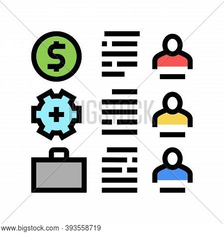 Employees Traits Color Icon Vector. Employees Traits Sign. Isolated Symbol Illustration
