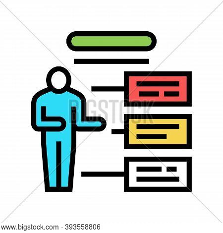 Employee Different Characteristics Color Icon Vector. Employee Different Characteristics Sign. Isola