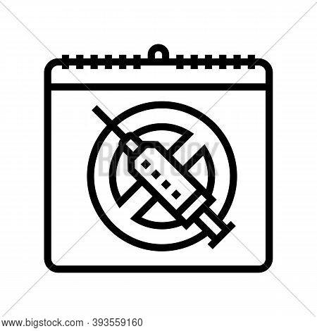 International Day Against Drug Abuse And Trafficking Line Icon Vector. International Day Against Dru