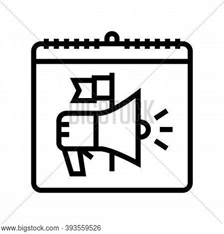 International Day Of Democracy Line Icon Vector. International Day Of Democracy Sign. Isolated Conto