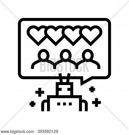 Robotic Winding Up Likes Line Icon Vector. Robotic Winding Up Likes Sign. Isolated Contour Symbol Bl