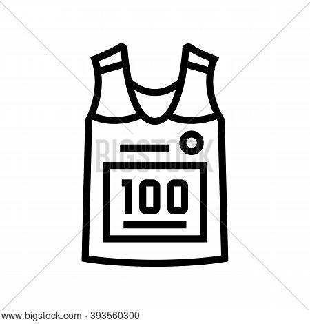 Runner T-shirt Line Icon Vector. Runner T-shirt Sign. Isolated Contour Symbol Black Illustration