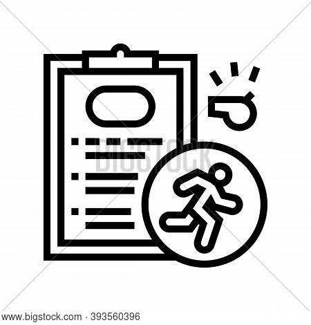 Runner Sportsman Card Line Icon Vector. Runner Sportsman Card Sign. Isolated Contour Symbol Black Il
