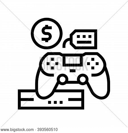Game Device Rental Line Icon Vector. Game Device Rental Sign. Isolated Contour Symbol Black Illustra