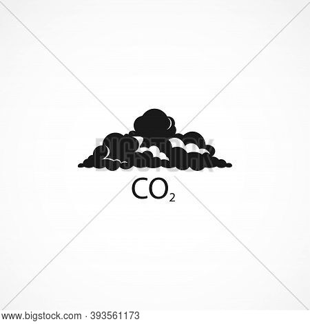Cloud Co2 Icon , Carbon Dioxide Formula Icon. Isolated Vector Element