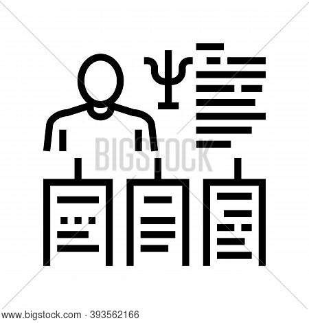 Worker Different Traits Line Icon Vector. Worker Different Traits Sign. Isolated Contour Symbol Blac