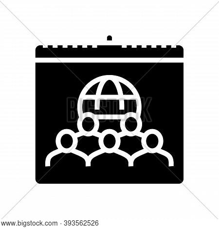 International Day For Tolerance Glyph Icon Vector. International Day For Tolerance Sign. Isolated Co