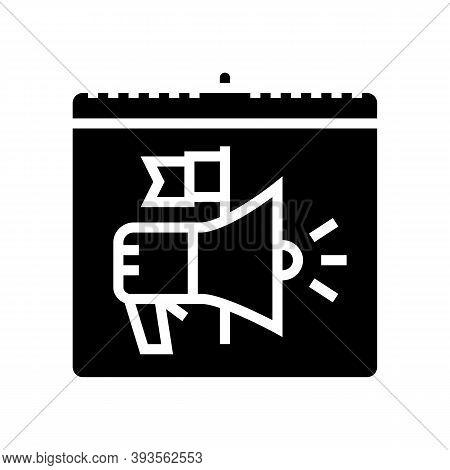 International Day Of Democracy Glyph Icon Vector. International Day Of Democracy Sign. Isolated Cont