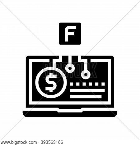 Smm Service Business Glyph Icon Vector. Smm Service Business Sign. Isolated Contour Symbol Black Ill