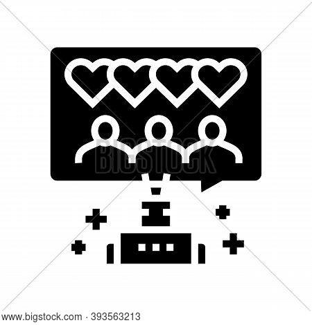 Robotic Winding Up Likes Glyph Icon Vector. Robotic Winding Up Likes Sign. Isolated Contour Symbol B