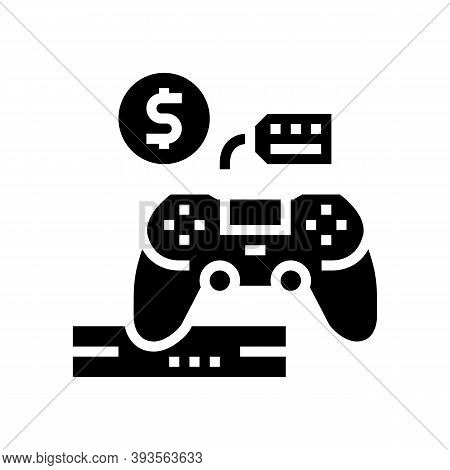Game Device Rental Glyph Icon Vector. Game Device Rental Sign. Isolated Contour Symbol Black Illustr