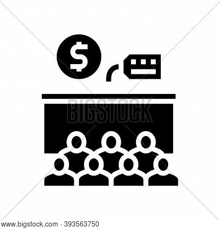 Conference Room Rental Glyph Icon Vector. Conference Room Rental Sign. Isolated Contour Symbol Black