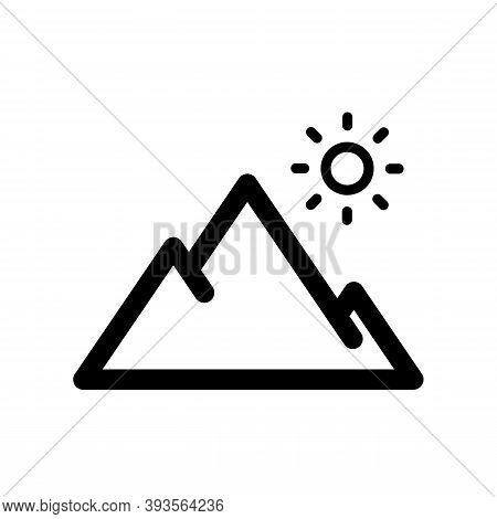 Mountain Icon Isolated On White Background From Outdoor Collection. Modern Mountain Symbol For Logo,