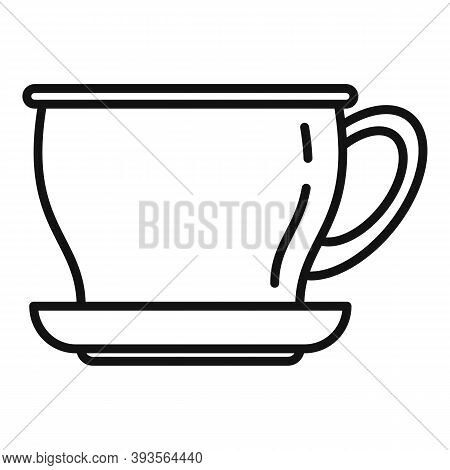 Ceramic Tea Cup Icon. Outline Ceramic Tea Cup Vector Icon For Web Design Isolated On White Backgroun