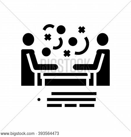 Seller And Client Communication Glyph Icon Vector. Seller And Client Communication Sign. Isolated Co