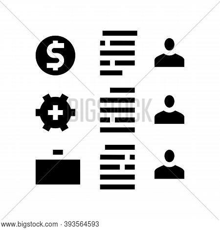 Employees Traits Glyph Icon Vector. Employees Traits Sign. Isolated Contour Symbol Black Illustratio