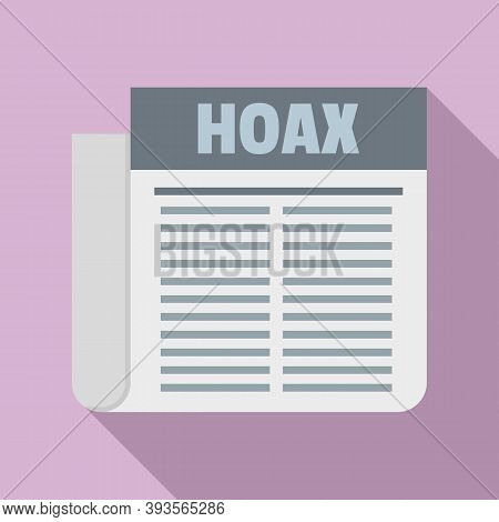 Hoax Newspaper Icon. Flat Illustration Of Hoax Newspaper Vector Icon For Web Design