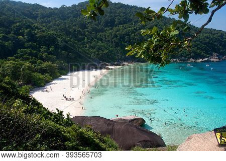 Similan Islands Beach In The Andaman Sea, Top View. Tourism, Asia, Travel. February 4, 2019.