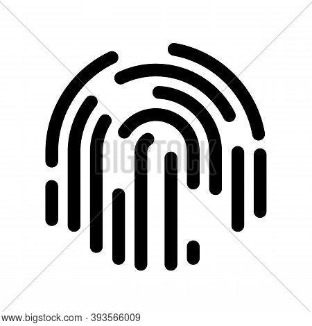 Fingerprint Icon Isolated On White Background. Modern Fingerprint Symbol For Logo, Web, App, Ui. Fin